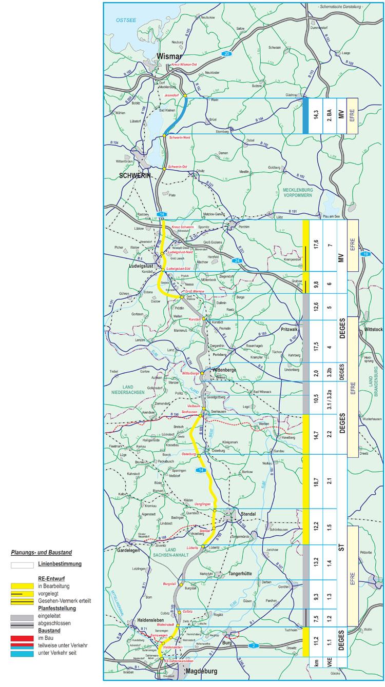 A14 Nordverlängerung Verlauf Karte