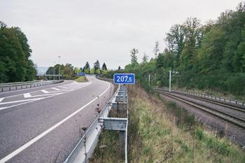 Kilometerangabe Autobahn