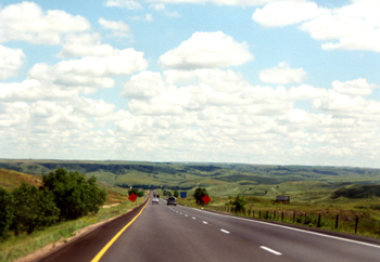 I-90 Interstate Highway Autobahn USA South Dakota 155-15